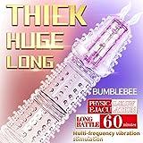 ETbotu Guaina e prolunga per Il Pene, Wolf Fang Vibration Crystal Preservativo allunga Lo Strumento del Sesso Set di Cristalli di Bumblebee Shake