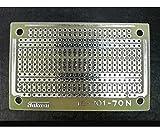 タカス電子 IC用ユニバーサル基板 デジタルパターン 45mm×72mm IC-701-70N