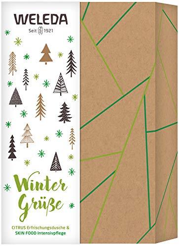 WELEDA Weihnachtsset Citrus/Skin Food 2020 - Naturkosmetik Weihnacht Geschenk Set bestehend aus Citrus Erfrischungs-Dusche (200 ml) & Skin Food (75 ml) in hochwertiger Geschenk Box