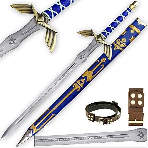 Legend of Zelda FULL TANG Master Sword SHARPENED Skyward Limited Edition Deluxe w Belt