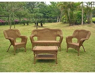 International Caravan 3180-MO-IC Furniture Four Piece Maui Outdoor Seating Group