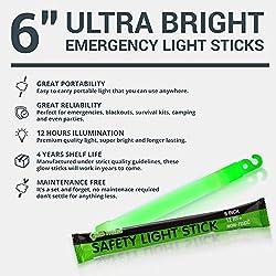 12 Ultra Bright Glow Sticks – Emergency Light Sticks for...