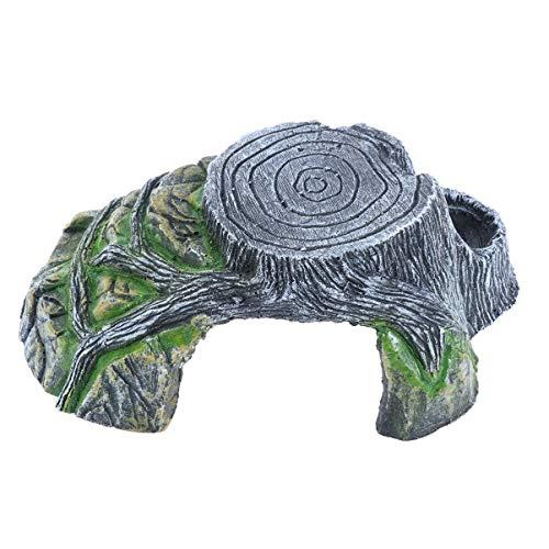 POPETPOP Plataforma para Tomar el Sol Tortuga-Reptil Roca decoración del Acuario Plataforma para Tomar el Sol rampa para Tortugas Reptiles (árbol no Incluido)