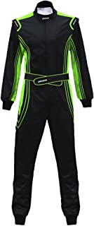 jxhracing RB-CR014 One Piece Auto Go Karts Racing Suit-SFI rated-Green Large