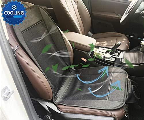 Big Ant Sitzbezüge Auto, Sitzauflagen Auto Kühl Sitzbezug Auto beheizbare Sitzauflage Sitzkissen Auto mit Belüftung und Heizung Funktion Klima Sitzauflage 12V für Auto, Bürostuhl (1 Stück)