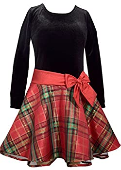 Bonnie Jean Girls  Toddler Hipster Dresses red/Green Plaid 2T