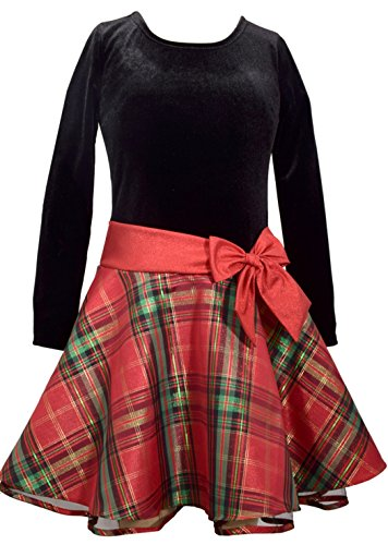 Bonnie Jean Girls' Toddler Hipster Dresses, red/Green Plaid, 4T