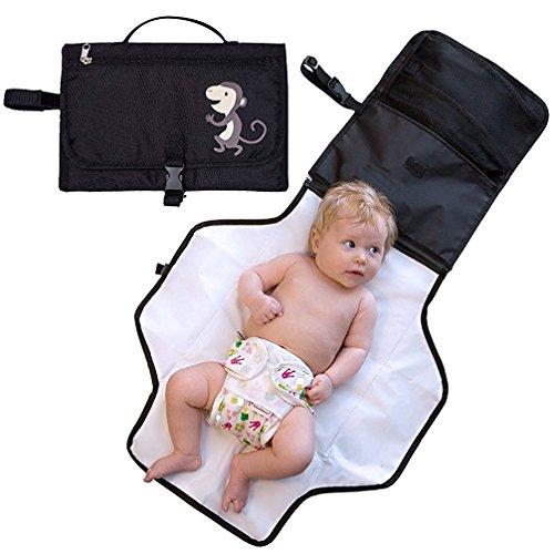 ZEEUPAI - Cambiadores de pañales plegable portátil para bebé en viaje al...