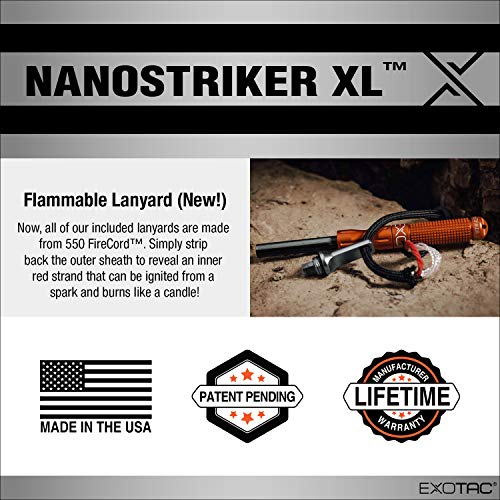 Product Image 7: EXOTAC – nanoSTRIKER XL Self-Contained Ferrocerium Firestarter for Emergency Survival Equipment, Camping, Backpacking, and Hiking (Olive Drab)