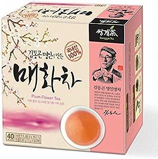 Ssanggye Tea Korean Plum Flower Herb Tea 0.5g X 40 Tea Bags