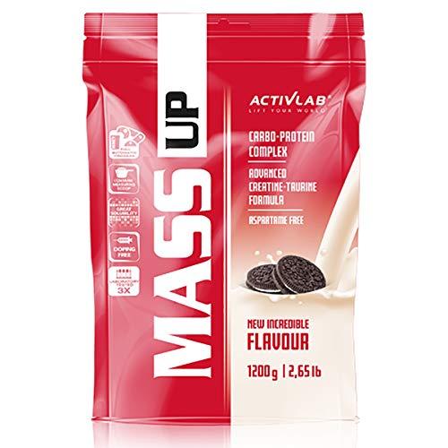 Activlab Mass Up 1 confezione x 1200 g di proteine del siero di latte in polvere e carboidrati Integratori alimentari con guadagno di massa di creatina (Cookies)