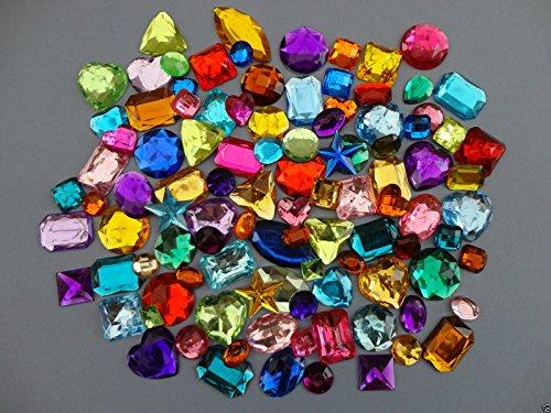 Mixed Acrylic Jewels Gemstones C...