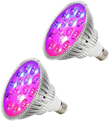 Dmygo LED coltivano la Lampadina Derlights 45W E27 Spettro Completo 15Leds Luce della pianta for dell'interno Giardino Hydropoics Plant (2Pack)