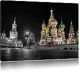 Basilius Kathedrale in Moskau schwarz/weiß Format: 120x80