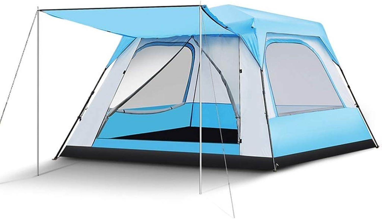 Tent, rainproof sunscreen 5-8-Personen-Zelt für Camping     Elite Zelt mit einfacher Einrichtung