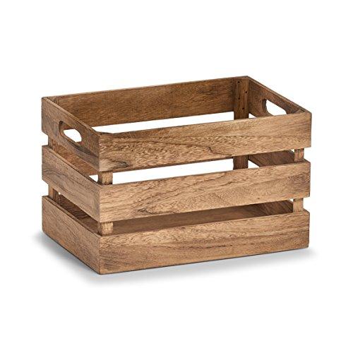 Zeller 15165 Aufbewahrungs-Kiste 'Vintage', Holz, braun, ca. 31 x 21 x 19 cm