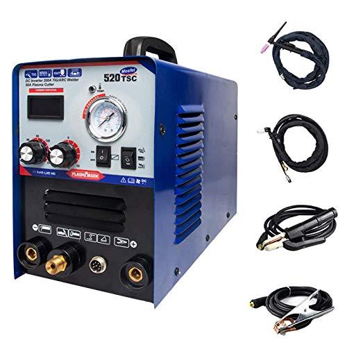 SUSEMSE Cortador de plasma 520TSC 200A TIG MMA soldador 50A cortador de plasma, cortadora de plasma TIG Arc Stick 220V 520TSC (TIG/MMA/Cut)