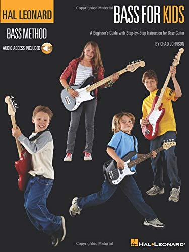 Hal Leonard Bass for Kids: A Beginner's Guide with Step-by-Step Instruction for Bass Guitar (Hal Leonard Bass Method)