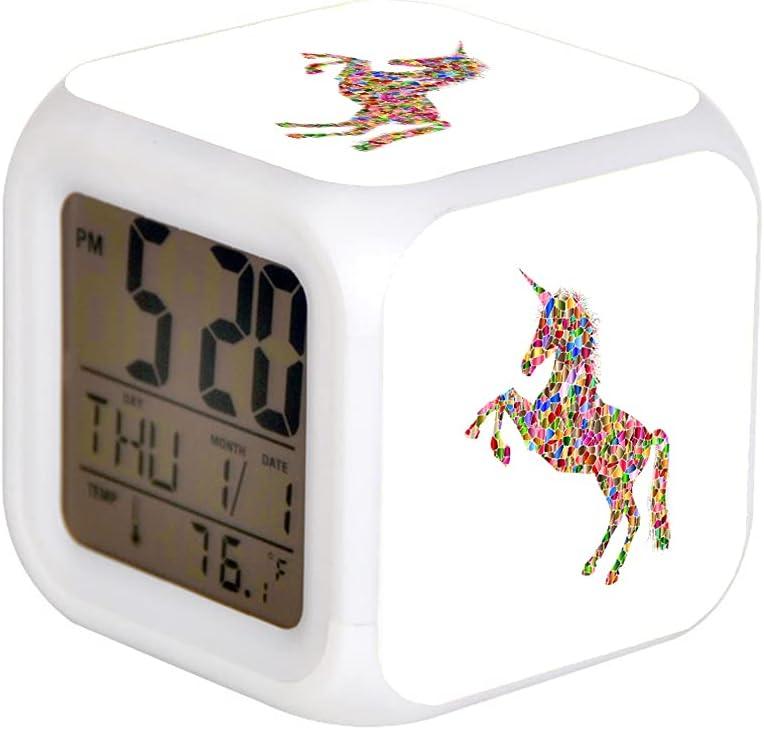 7 ColorAlarm Clock LED Digital Clock Changing Light Night Glowin
