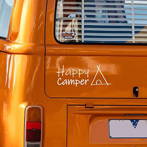 Happy Camper sticker sticker voor alle gladde oppervlakken. auto, muren, ramen, deur en uvm.