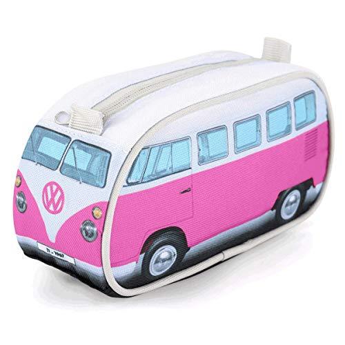 Board Masters Volkswagen VW-Federmappe, VW Bulli T1 Samba, für Erwachsene und Kinder, VW-Geschenke, Rosa