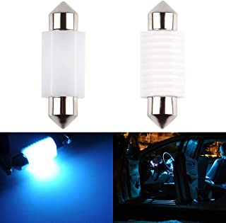1797 Map Light DE3425 6411 6418 C5W LED Bulb Ice Blue 8000K 3030SMD for Cars Dome License Plate Trunk Interior Lamp Replacement Festoon Super Bright 12V 2W 1 Year Warranty 36mm 1.5in Ceramic 2 Pack