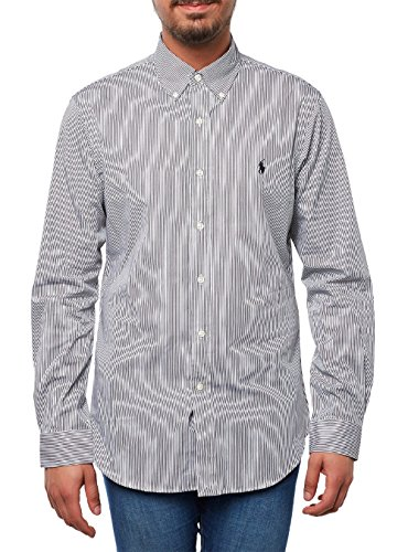 POLO RALPH LAUREN Slim-Fit Hemd L schwarz/weiss