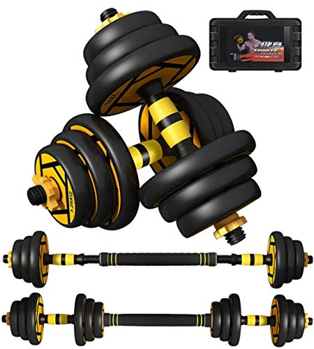 2 in 1 Dumbbell & Barbell Set Home Gym Fitness Equipment for Men or Women Adjustable Hand Weights Pair Free-Combination Dumbells Set,30kg(15kg*2)