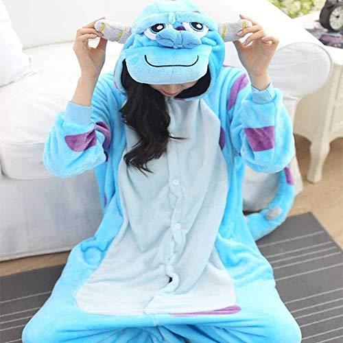 Ropa de dormir pijama Stitch Pink Blue Women Winter Franela cálida Dibujos animados Animal Pijamas Conjuntos Lindos Adultos Sleepwear Nightie-Pink Stitch_XL Disfraz ( Color : Sullivan , Size : S )