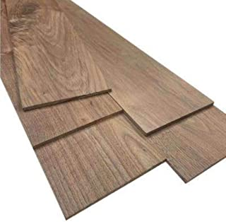 "Pack of 2 Black Walnut Boards 1/4"" Thick, Up to 8"" Wide, 24"" Long. You Choose Width. Thin Hardwood Lumber by Wood-Hawk (1/4 x 8 x 24)"