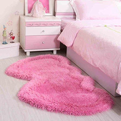 RUG ZI LING Shop- tapijt stretch zijde nachtkastjes kinderkamer ottoman slaapkamer hartvormige matten