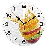 ColorMu Reloj de Pared Diámetro Redondo 10 Pulgadas Rebanad