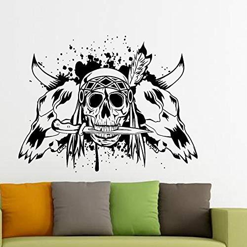 Pegatinas De Pared Bedom wallpaper Etiqueta De La Esquina De Halloween Punk Death Applique Devil Poster Name Car Window Art Wall Decal Decoration Mural @ _132X174Cm