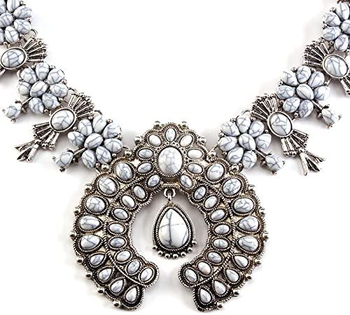 Best lady New Fashion Women za Big Brand Vintage Long Necklace Collar Choker Maxi Statement Necklace Choker Collar (Color Blue Green)