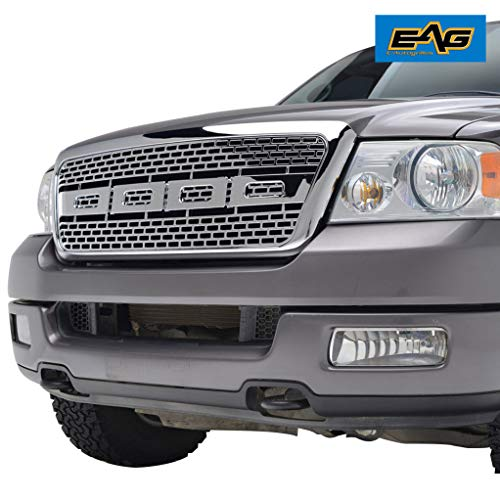 EAG Front Replacement Grille Upper Full Chrome Grill Fit for 04-08 F-150