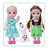 16Cm Frozen Princess Anna Elsa Kristoff Sven Olaf PVC Figuras De Acción Modelo Muñecas Colección par...