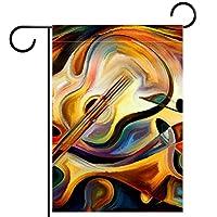 ホームガーデンフラッグ両面春夏庭屋外装飾 28x40in,抽象油絵