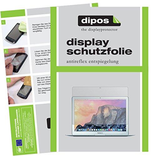 dipos I 2X Schutzfolie matt kompatibel mit Apple MacBook Air 13 Zoll 2015 Folie Displayschutzfolie