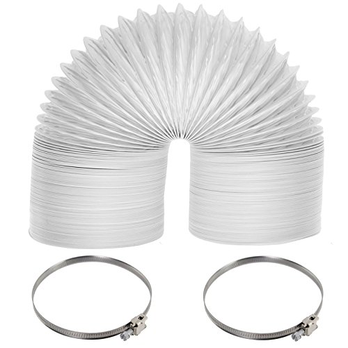 Spares2go-Tuyau d'évacuation d'air universel 6 m, diamètre 100 mm, colliers de serrage, pour sèche-linge