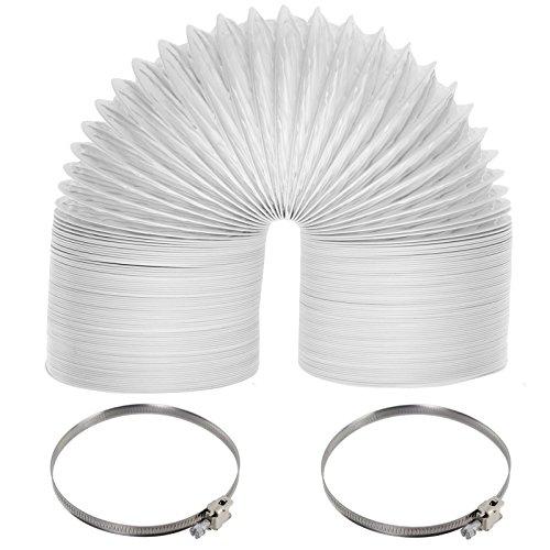 Spares2go Tuyau d'évacuation avec colliers de serrage pour sèche-linge Beko 6 m x 100 mm de diamètre