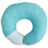 Babymoon Pod 4-in-1 Multipurpose Infant Pillow for Flat Head Prevention, Tummy Time, Nursing, Travel (Baby Blue)