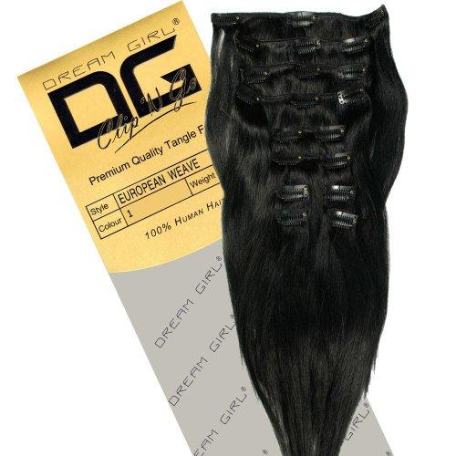 Dream Girl Extensions de cheveux à clipser Couleur 1 35,6 cm