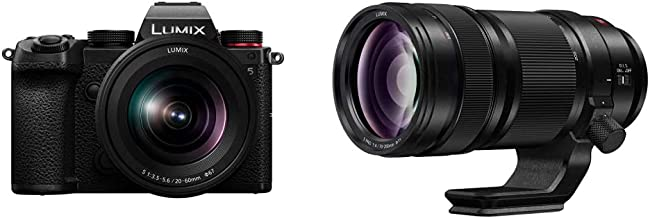 Panasonic LUMIX S5 Full Frame Mirrorless Camera (DC-S5KK) and LUMIX S PRO 70-200mm F4 Telephoto Lens (S-R70200)