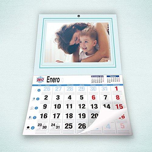 FOTOCENTER Calendarios Personalizados faldilla 43 x 62 cm - Imprime tu Pack de 4 calendarios idénticos.