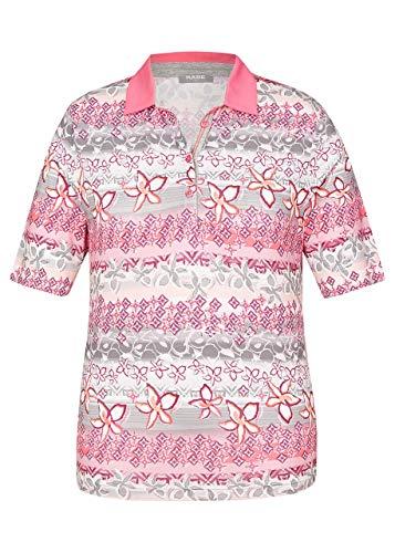 Rabe Damen Poloshirt mit Uni-Kragen und floralem Print