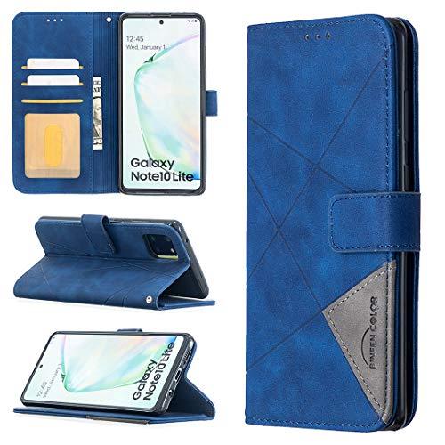 LODROC Coque Galaxy A81/M60S/Note 10 Lite Coque,Housse en Cuir Premium Flip Case Portefeuille Etui avec Stand Support et Carte Slot pour Samsung Galaxy A81 - LOBFE0700188 Bleu
