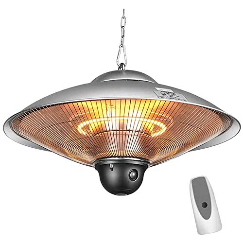 GT-LYD Electric Hanging Heater, Infrared Patio Heater, IP4 Waterproof Halogen Heater w/Remote Control, for Indoor/Outdoor