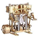 deguojilvxingshe Máquina de vapor de doble cilindro de latón para barcos