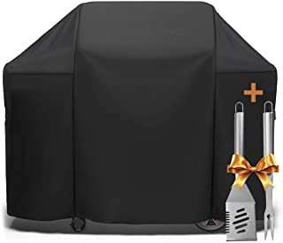 SHINESTAR 58 Inch Grill Cover, 4 Burner BBQ Grill Cover Heavy Duty Waterproof Fits for Weber Genesis Grill, Char Broil, Nexgrill, Kenmore, Dyna-Glo and More, Come with Spatula and Fork