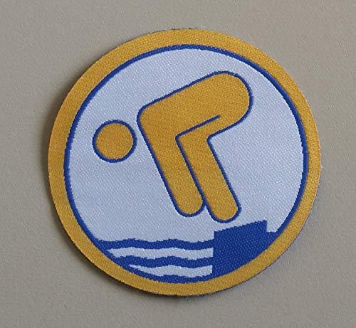 Erlebe Wasser Jugendschwimmer RUND Stoffabzeichen (Gold)